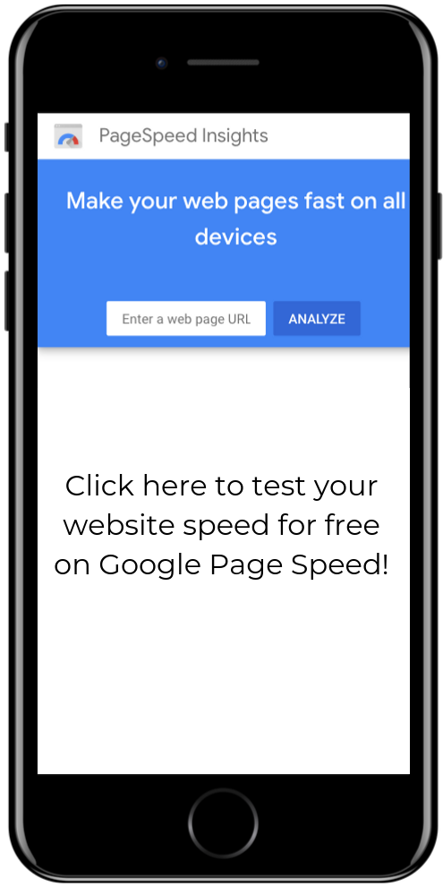 test your google page speed for your dental website